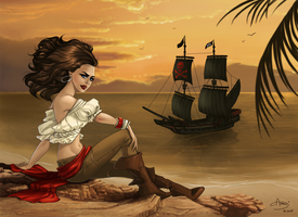 Pirate lady by AonikaArt
