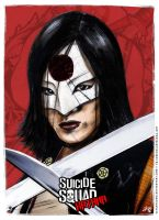 Katana - Suicide Squad poster by elfantasmo