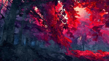 Red Forest by Invisiblerebel