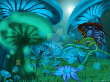 The Dragons of Mushroom Forest by rooey1
