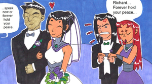 Damian/Mary wedding pic from my OTP meme by mmmciaG