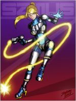 Samus`s Zero Battle Armor by TheInsaneDarkOne