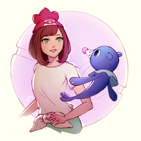 Popplio by Zolaida