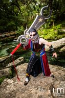 Auron with Ultimate Weapon by negativedreamer