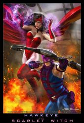 HAWKEYE and SCARLET WITCH by DouglasShuler