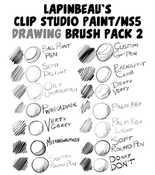 Lapinbeau's Clip Studio Paint Brush Pack 2 by TheInkyWay