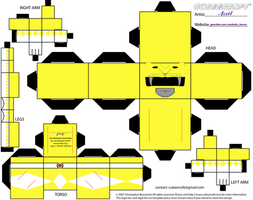 Yellow MMPR Cubee by Ameyal