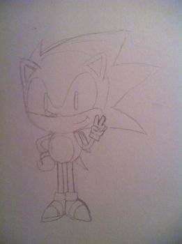 Classic Sonic (Sketch) by grimGadabout
