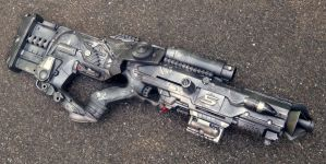Wyvern-05 Electric Compression Pulse Rifle (Final) by KingMakerCustoms