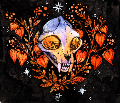 spooky skull by The-Monster-Shop