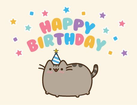 Pusheen Birthday Card by beccyboo-412