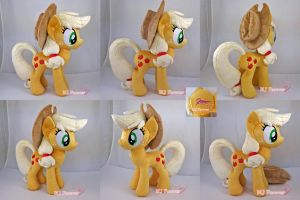 Applejack plushie (private commission) by moggymawee