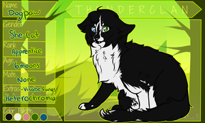Dogpaw / Apprentice / Thunderclan by TACOBELLABAE