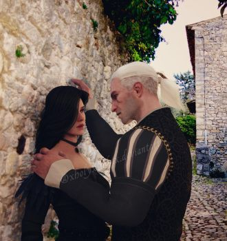 Yennefer and Geralt by xHolyxLightx