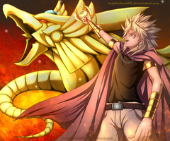 Shadows of Golden Death - Yami Marik and Ra by ladybakura92