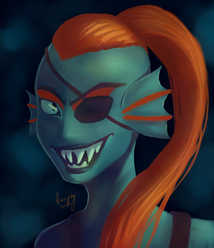 Undyne by Rainydaysmiles