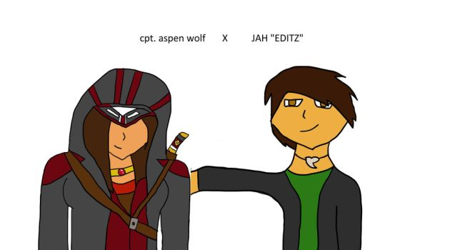 captain aspen wolf and JAH editz by wildwolfboy90