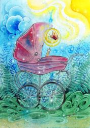 Magical Pram by golden-quince