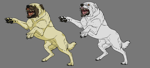 Kangal Dog Lineart. Shaded + Solid by TheSodaSmuggler