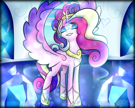 MLP Print - Cadence the Crystal Princess by CosmicChrissy