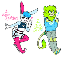 Anthro song themed OTA adopts! CLOSED by ZodiacCloud