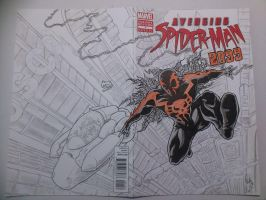 Avenging Spider-Man (2099) Sketch Cover by natelyon