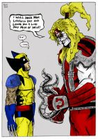 Wolverine Versus Omega Red by TheMonkeyYOUWant