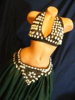 Cowrie Shells Tribal Top And Belt by BacktoEarthCreations