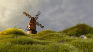 Old Windmill Cinema 4d by botshow