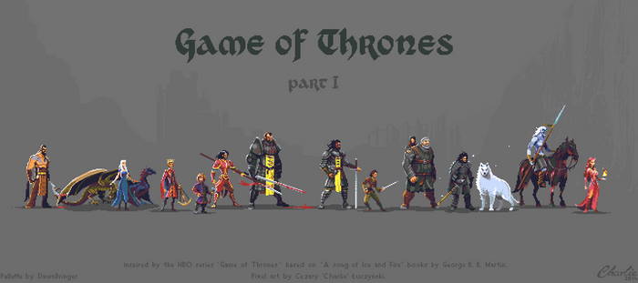 Pixel art Game of Thrones Character set - part I by Luczynski