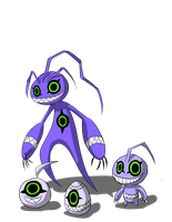 Viralkeramons line, egg to rookie, colored by The-Insignia