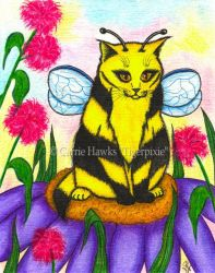 Buzz The Bumble Bee Fairy Cat by tigerpixieart