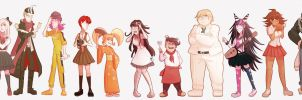 all SDR2 characters lineup by Miss-Ponytails
