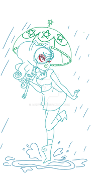 Just a sketch of spring rain by jazzygal12