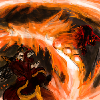 Fire Lord Ozai vs. Benedict/Father 1 by Fightlikeariver
