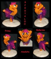 SCOOTALOO Ballerina Custom with removable TUTU by MadPonyScientist