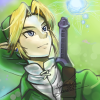 Link- The Legend of Zelda Ocarina of Time by yarsti