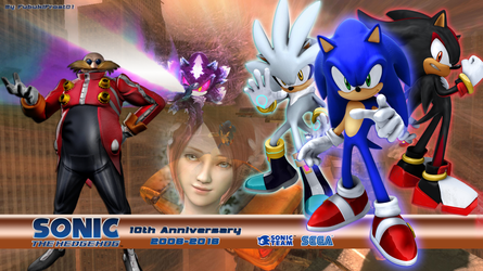 Wallpaper 10th Anniversary Sonic The Hedgehog 2006 by LegendQueen01