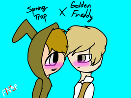FNAFHS Springtrap X Golden by astya45