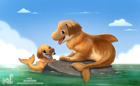 Daily Painting 1723# Dogphin by Cryptid-Creations