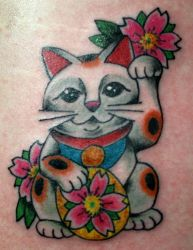 Maneki Neko Tatoo by mrinx