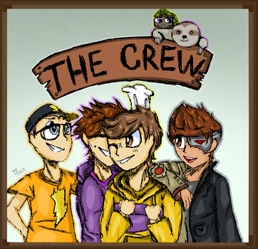 The Crew (Tofuu, Poke, TwiistedPandora, SeeDeng) by GalaxiaArts
