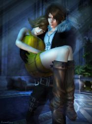 Squall x Selphie by Leo-Fina