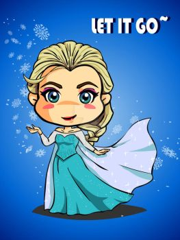 Disney princess fan art - Elsa by digikolobong