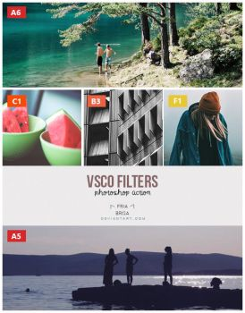 VSCO 5 Filters - Photoshop Action (ATN) by friabrisa