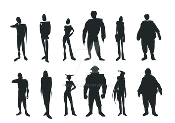 character silhouette practice by lushan