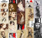Retro Illustrations Photoshop Action by GraphicAssets