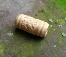 Carved Dread Bead, Antler Dread Bead by heatherfish24