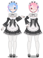 Kisekae: Rem And Ram [+EXPORTS] by BABYS-nerdorito