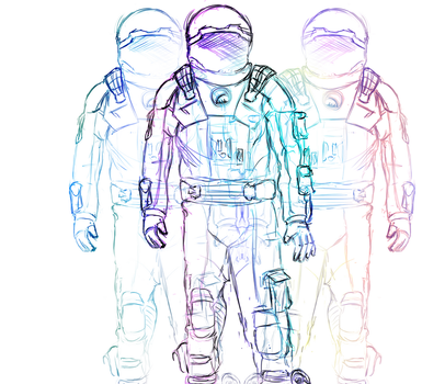 Chromatic Astronauts by DoctorVan